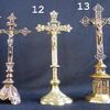 Vintage Solid Brass Crucifixes